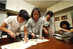 食事作り体験